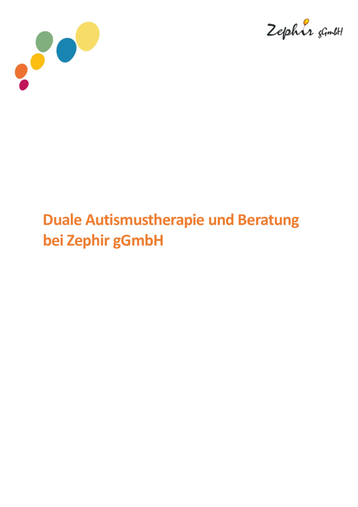 thumbnail of Zephir gGmbh Konzept Autismustherapie und Beratung